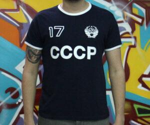 camiseta cccp azul centenario escudo urss