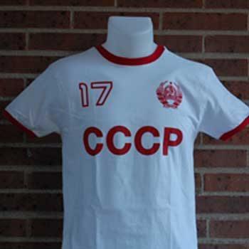 camiseta cccp blanca 17