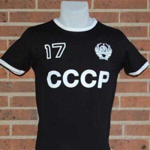 camiseta cccp negra 17