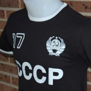 camiseta cccp negra lalokomotora