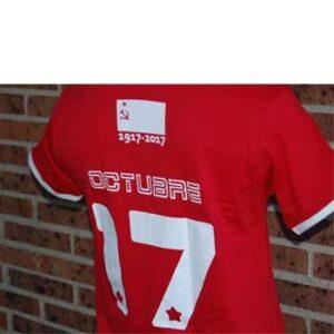 camiseta cccp roja detras