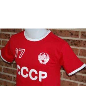 camiseta cccp roja escudo