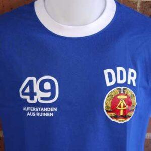 camiseta rda ddr escudo