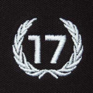 polo 17 negro escudo