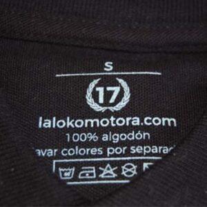 polo 17 negro etiqueta