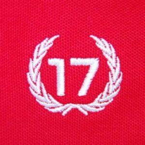 polo 17 rojo escudo