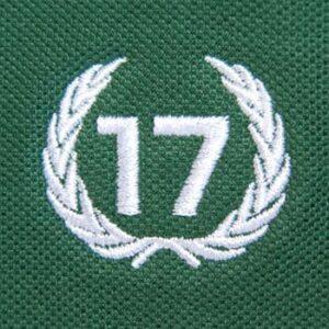 polo 17 verde escudo