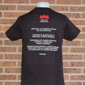 camiseta unidad popular lalokomotora