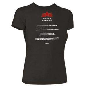 camiseta unidad popular feminista trasera
