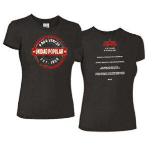 camiseta unidad popular mujer