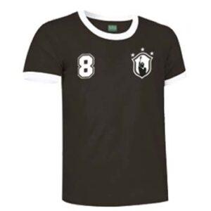 camiseta socrates brasil negra