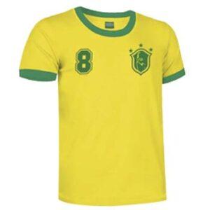 camiseta socrates brasil amarilla