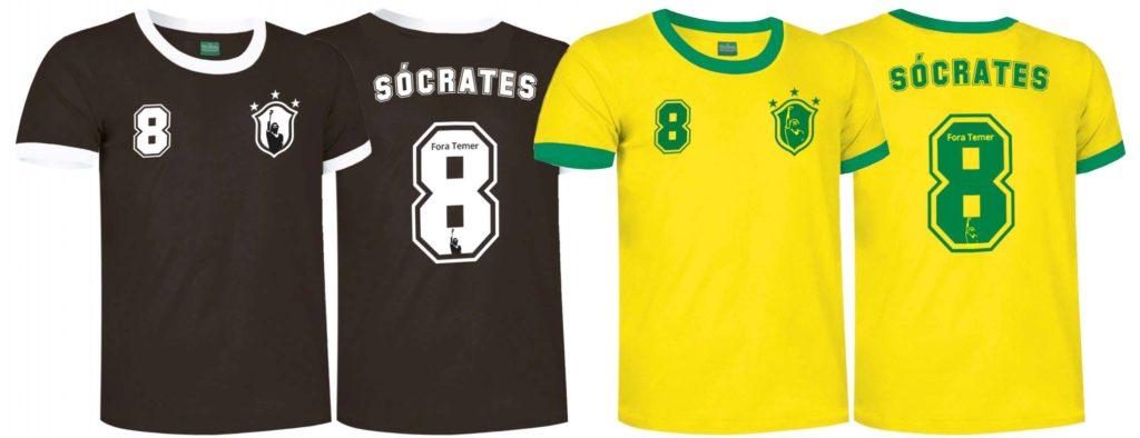 camisetas socrates brasil lalokomotora