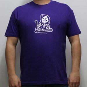 camiseta partisana morada