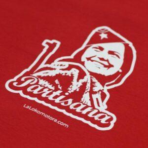 camiseta partisana roja lalokomotora