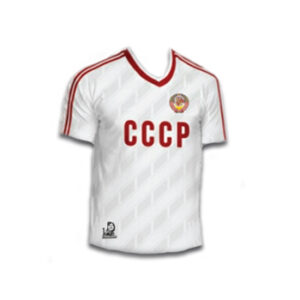 camiseta cccp futbol blanca