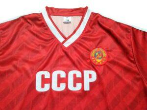 camiseta cccp roja detalle