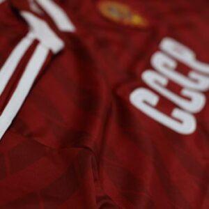 camiseta cccp roja rayas
