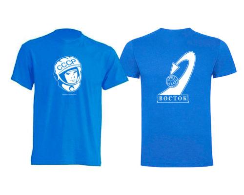 camiseta yuri gagarin celeste