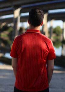 camiseta iii republica roja trasera
