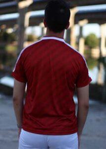 camiseta cccp roja trasera