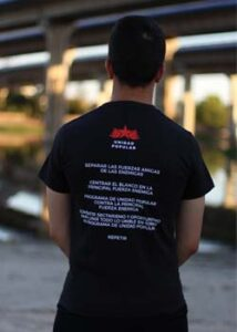 camiseta unidad popular trasera