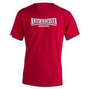 camiseta antifascista siempre roja