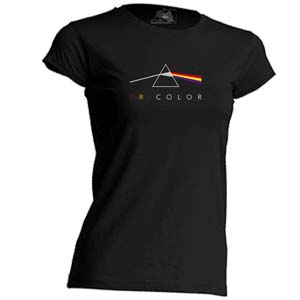 camiseta tricolor entallada