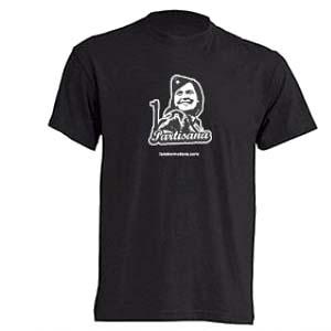 camiseta partisana negra