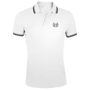 polo 17 blanco azul