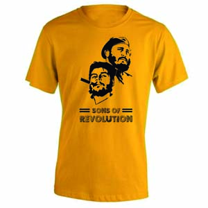 camiseta sons of revolution amarilla
