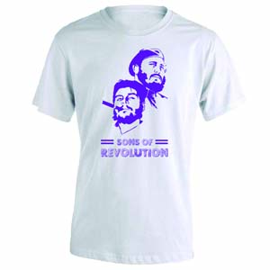camiseta sons of revolution blanca morada