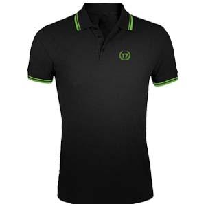 polo 17 negro verde