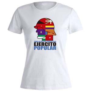 camiseta ejercito popular blanca mujer