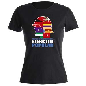 camiseta ejercito popular negra mujer