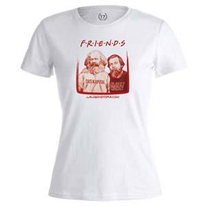 camiseta friends blanca mujer