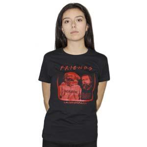 camiseta friends mujer negra