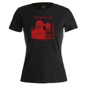 camiseta friends negra mujer