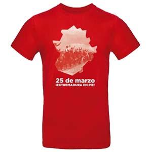 camiseta extemadura 25 de marzo roja