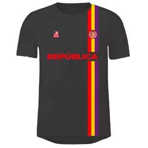 camiseta de futbo republica española negra y roja