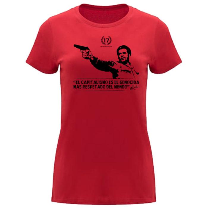 camiseta che roja mujer