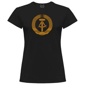 camiseta ddr dorada mujer