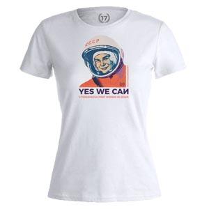 camiseta tereskova blanca mujer