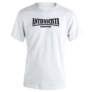 camiseta antifascista siempre blanca