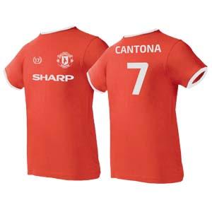camiseta cantona roja algodon