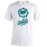 camiseta antifa blanca verde